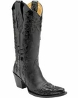 Corral Women's Black Patent Laser Overlay Boots A2832