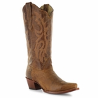 Corral Women's Brown Waxy Leather Boot A2922