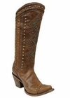 Corral Women's Chedron Turquoise Ethnic Pattern & Stud Boots C2897