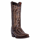 "Dan Post Mens ""Atticus"" Western Boots Chocolate Lodge Leather DP3612"