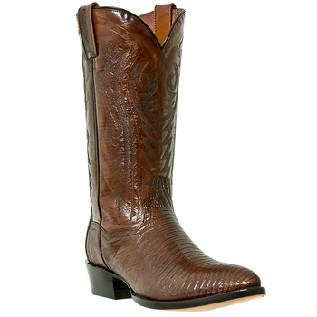 "Dan Post Mens ""Durham"" Exotic Western Boots Antique Tan Teju Lizard Foot DP2351"