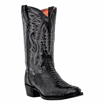 "Dan Post Mens ""Omaha"" Exotic Western Boots Black Python Foot DPP3037"