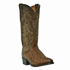 """Dan Post Mens """"Tempe"""" Exotic Western Boots Saddle Tan Full Quill Ostrich Foot DP2323"""