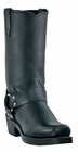 Dingo Men's Classic Harness Black Leather Boots DI19057