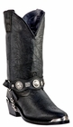 Dingo Men's L.A. Rocker Leather Boots With Conchos DI02175