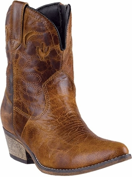 "Dingo Women's ""Adobe Rose"" Light Brown Distressed Leather Boots DI-692"