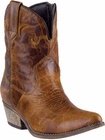 """Dingo Women's """"Adobe Rose"""" Light Brown Distressed Leather Boots DI-692"""