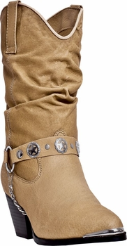 "Dingo Women's ""Olivia"" Tan Western Fashion Boots DI-526"