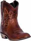 """Dingo Women's """"Willie"""" Brown Leather Boots DI-865"""