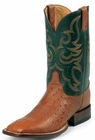 Justin Boots Mens AQHA Remuda Western Cognac Smooth Ostrich Boots 5505
