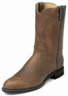 Justin Boots Mens Classic Western Bay Apache Roper Boots 3408