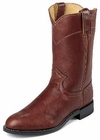Justin Boots Mens Classic Western Chestnut Deerlite Roper Boots 3163