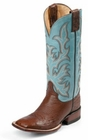Justin Ladies AQUA Lifestyle Remuda Series Antique Brown Smooth Ostrich Boots L5527