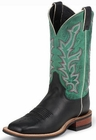 Justin Ladies Bent Rail Series Turquoise And Black Soft Calf Cowgirl Boots BRL331