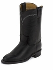 Justin Ladies Classic Western Royal Black Cowhide Boots L3803