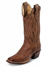 Justin Ladies Classic Western Tan Distressed Vintage Goat Boots L2680