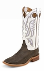 Justin Mens Boots Chocolate Bisonte BR305