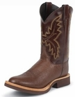 Justin Mens Boots Tekno Crepe Collection Antique Brown Smooth Ostrich Crepe Soled Boots 5131