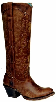 "Ladies Corral Boots Kats Natural Westport C1971<Font color=""Red""> B</Font>"
