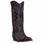 """<Font size=5 color=""""red""""><b>></b></Font>Ladies Laredo """"Lucretia"""" Black/Tan All Leather Fashion Boots 52133"""