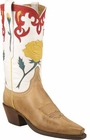 Ladies Lucchese Classics Antique Saddle Ranch Hand Custom Hand-Made Western Boots L4646