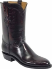 Ladies Lucchese Classics Black Cherry Goat Leather Custom Hand-Made Roper Boots L5505