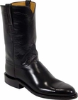 Ladies Lucchese Classics Black European Calf Leather Custom Hand-Made Roper Boots L5509