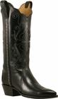 Ladies Lucchese Classics Black Leather Custom Hand-Made Western Boots L4654