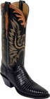 Ladies Lucchese Classics Black Lizard Custom Hand-Made Western Boots L4075