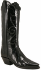 Ladies Lucchese Classics Black Patent Leather Custom Hand-Made Western Boots L4632