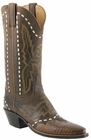 Ladies Lucchese Classics Burnished Mad Dog Goat With Lizard Wingtip Custom Hand-Made Western Boots L4679