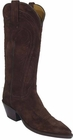 Ladies Lucchese Classics Chocolate Cashmere Suede Custom Hand-Made Western Boots L4574