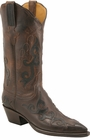 Ladies Lucchese Classics Chocolate Mad Dog Goat Custom Hand-Made Western Boots L4627