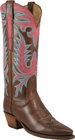 Ladies Lucchese Classics Chocolate Oil Calf Custom Hand-Made Western Boots L4650
