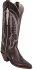 Ladies Lucchese Classics Chocolate Oil Calf Leather Custom Hand-Made Tall Boots L4581