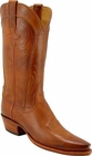 Ladies Lucchese Classics Cognac Burnished Ranch Hand Custom Hand-Made Western Boots L4589