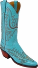 Ladies Lucchese Classics Emerald Blue Goat Custom Hand-Made Western Boots L4570