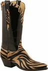 Ladies Lucchese Classics Fawn Zebra Pattern Custom Hand-Made Western Boots L4704