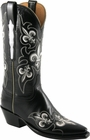 Ladies Lucchese Classics Fleur De Lis Black Goat Custom Hand-Made Western Boots GB9295/GB9289