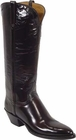 Ladies Lucchese Classics Granada Black Cherry Goat Leather Custom Hand-Made Boots L4506