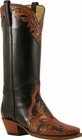 Ladies Lucchese Classics Hand Tooled Leather Custom Hand-Made Western Boots L4656