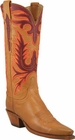 Ladies Lucchese Classics Honey Burnished Ranch Hand Custom Hand-Made Western Boots L4649