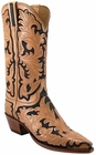 Ladies Lucchese Classics Leggenda Collection Hand Tooled Leather Custom Hand-Made Western Boots L4099