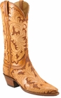 Ladies Lucchese Classics Leggenda Collection Hand Tooled Leather Custom Hand-Made Western Boots L4615