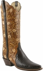 Ladies Lucchese Classics Lizard Tooled Custom Hand-Made Western Boots L4139