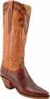 Ladies Lucchese Classics Mayela Chocolate Oil Calf Leather Custom Hand-Made Tall Boots L4607