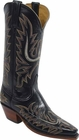 Ladies Lucchese Classics Mayela Stitch Black Calf Custom Hand-Made Cowgirl Boots L4552