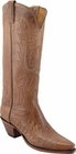 Ladies Lucchese Classics Mayela Tan Mad Dog Goat Leather Custom Hand-Made Tall Boots L4605