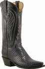 Ladies Lucchese Classics Navy Blue Lizard Custom Hand-Made Western Boots L4118