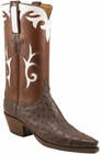 Ladies Lucchese Classics Nicotene Quill Ostrich Custom Hand-Made Western Boots L4639